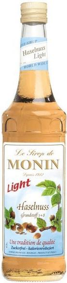 Monin Sirup Haselnuss light (zuckerfrei) 0,7 l