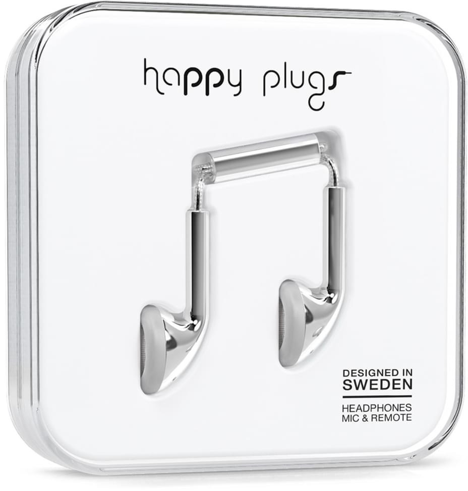 Image of Happy Plugs Earbud (Silver)