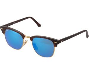Ray Ban Clubmaster Sand Havana/Gold Special grey mirror blue Gr. Uni ASIpc56