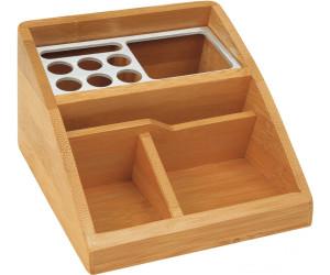 Schreibtisch-Organizer Bambus mit 2 Schubladen 6 Fächern als Schreibtischbutler