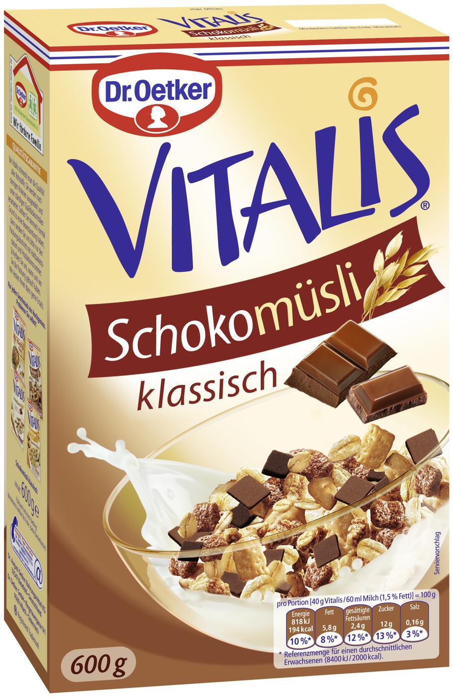 Dr. Oetker Vitalis Schoko Müsli klassisch (600 g)