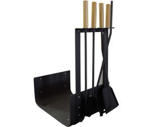 Kaminbesteck Holzablage Lienbacher schwarz Edelstahl 4-teilig 70cm