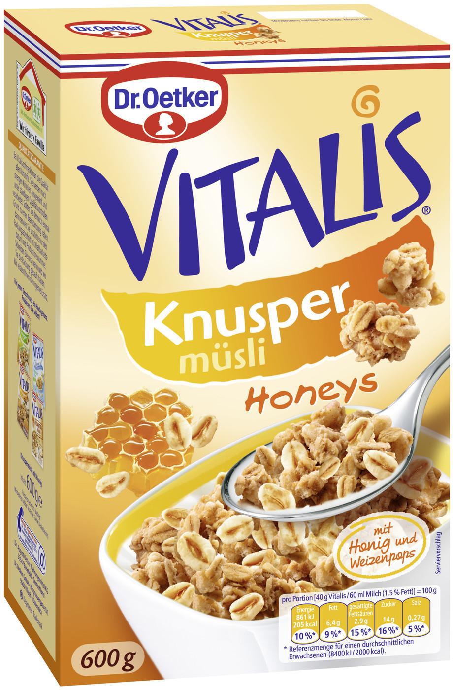 Dr. Oetker Vitalis Knusper Honeys (600 g)