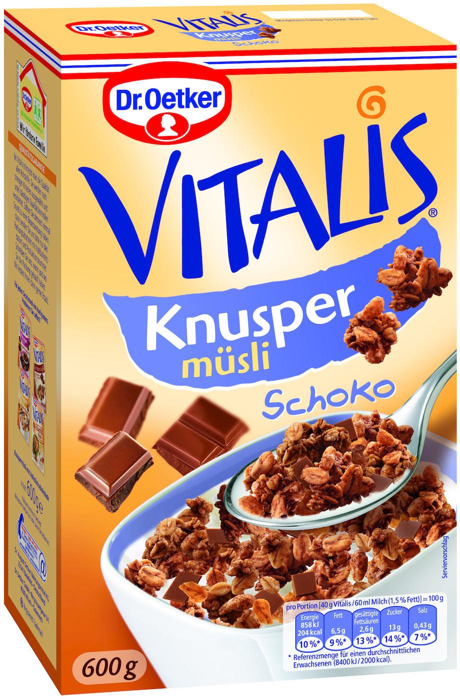 Dr. Oetker Vitalis Knusper Schoko (600 g)