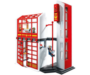 playmobil caserne de pompiers avec alarme 5361 au meilleur prix sur. Black Bedroom Furniture Sets. Home Design Ideas