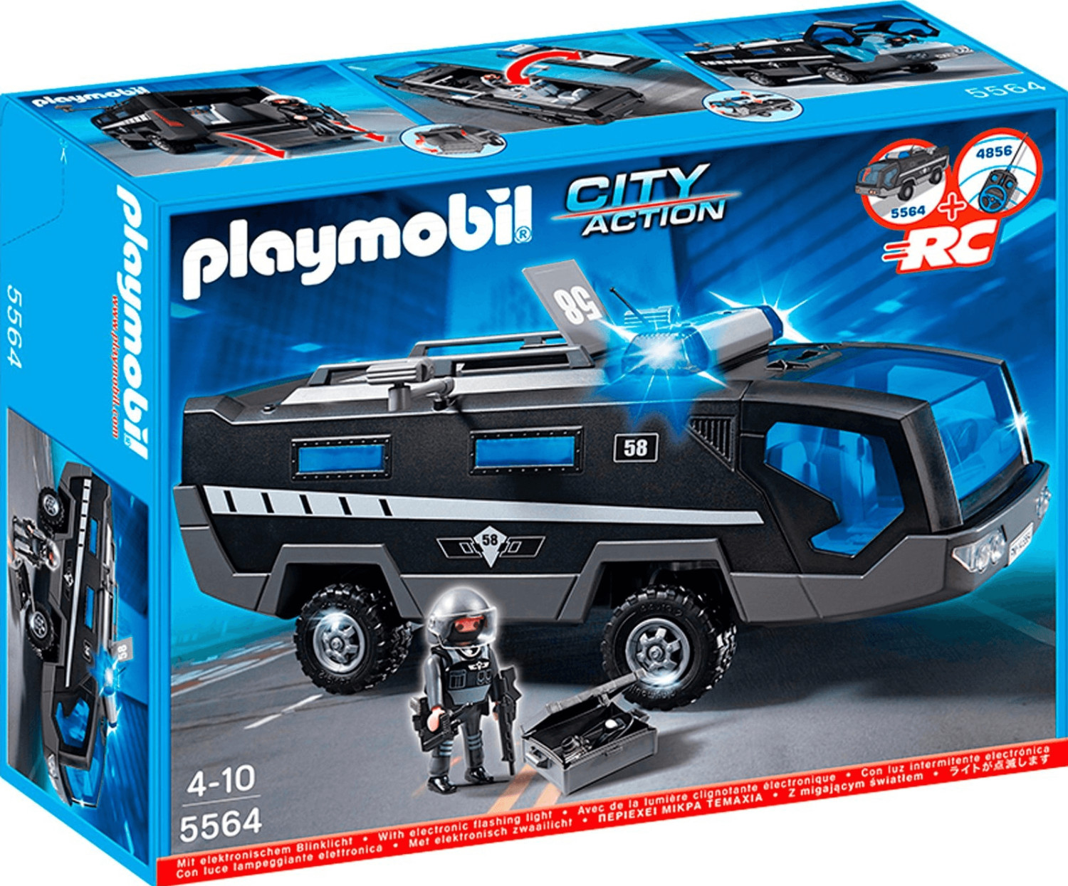 Playmobil 5564 City Action. Police véhicule d'intervention en boite, NEUF