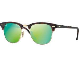 Ray Ban Clubmaster RB3016 114519 51 sand havana gold / grey mirror green N1zlC1J