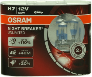 Led H7 Lampen : Osram night breaker unlimited h duo box ab