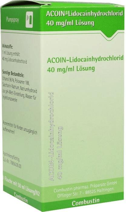 Acoin-Lidocainhydrochlorid 40 mg/ml Lösung (50 ml)
