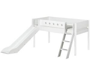 Great Flexa Halbhochbett White 90x200cm Mit Schrägleiter Und Rutsche (80 17315) Amazing Ideas