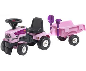 Falk bikes tracteur enfant princess trac avec remorque au meilleur prix sur - Tracteur remorque enfant ...