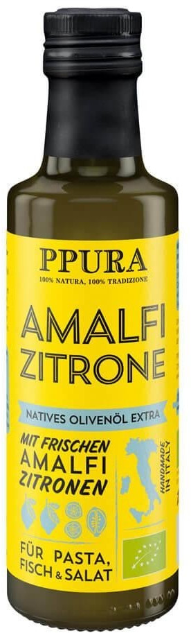PPURA Bio Olivenöl mit Amalfi Zitronen (100 ml)