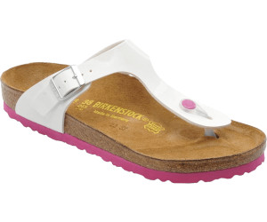 107012a0f7e Buy Birkenstock Gizeh Birko-Flor Patent white pink from £74.99 ...