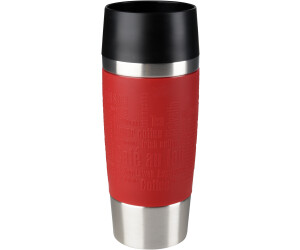 Emsa 513357 Travel Mug Insulated Drinking Cup with Quick Press Closure, 360 ml, Blue