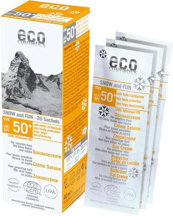 Eco Cosmetics Snow & Fun Sonnencreme 50+ (20 x 2 ml)