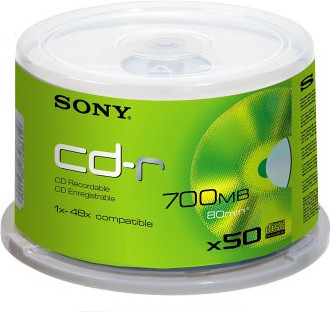 Sony CD-R 700MB 80min 48x 50er Spindel