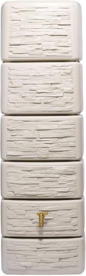 Preisvergleich 4rain Säulen-Wandtank Slim 300 Liter sandbeige