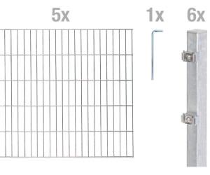 gah alberts zaun set doppelstabmatte 6 5 6 bxh 10 m x 100 cm ab 264 00 preisvergleich bei. Black Bedroom Furniture Sets. Home Design Ideas