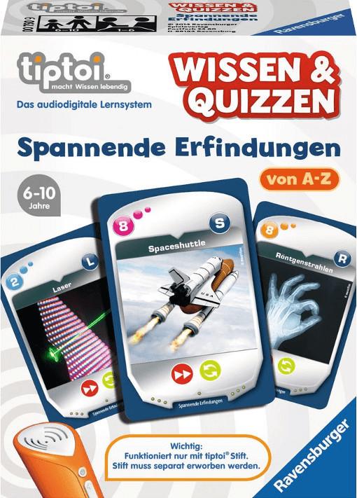 Ravensburger tiptoi Wissen & Quizzen: Spannende Erfindungen von A-Z
