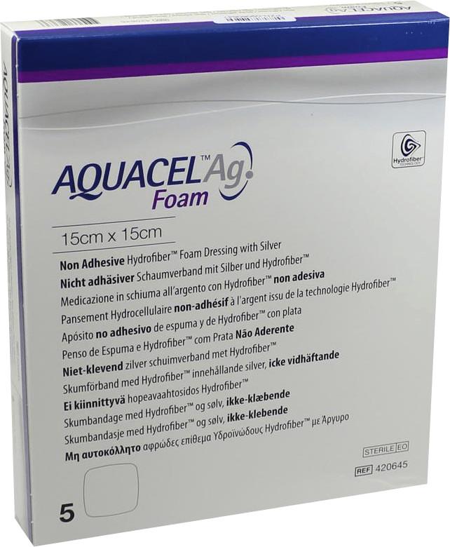 ConvaTec Aquacel Ag Foam nicht adhäsiv 15 x 15 ...