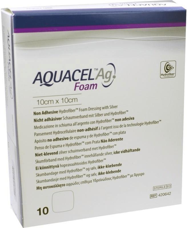 ConvaTec Aquacel Ag Foam nicht adhäsiv 10 x 10 ...