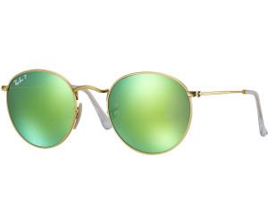 RAY BAN RAY-BAN Sonnenbrille »ROUND METAL RB3447«, goldfarben, 112/P9 - gold/grün