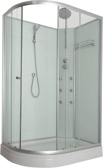 Home Deluxe Poseidon Duschkabine 120 x 80 cm inkl. Dampfsauna