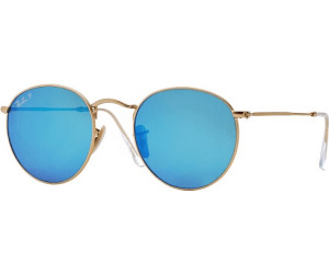 607e896e50d Buy Ray-Ban Round Flash RB3447 112 4L (matte gold blue flash ...