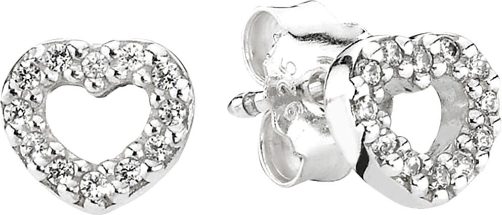 Pandora Schmuck 290528CZ - Pendientes de plata de ley con circonita con cierre de mariposa a presión