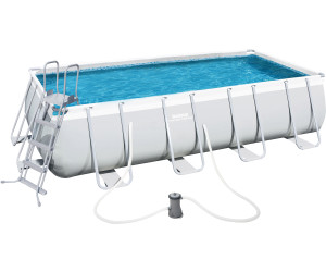 Bestway power steel frame pool 488 x 274 x 122 cm mit for Bestway pool bei obi
