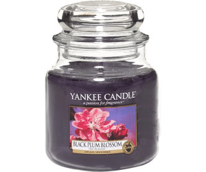 Image of Yankee Candle Black Plum Blossom Medium Jar Candle (411g)