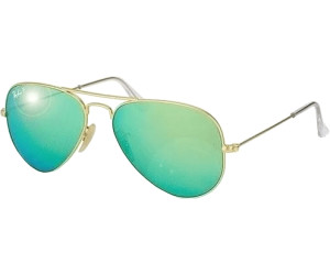 Rb3025 Aviator Large Metal 112/p9 Matte Gold Green Mirror Polar 58/14 135 SjTVVeI5b9