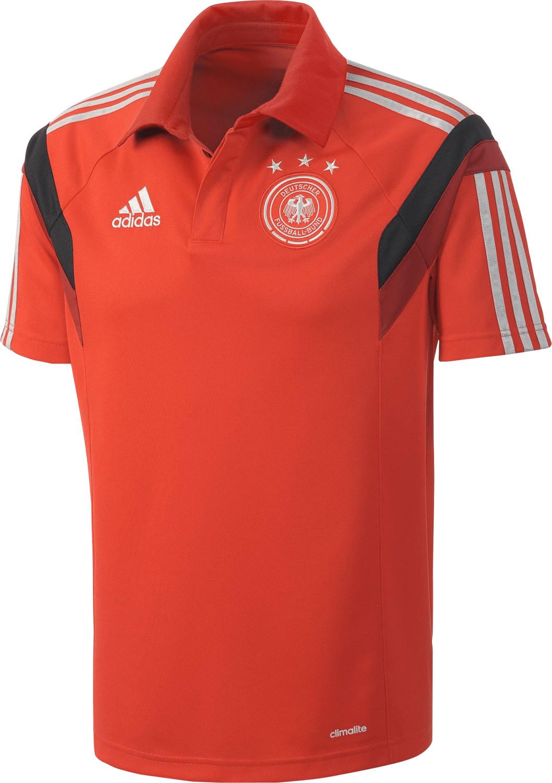 Adidas Deutschland Poloshirt WM 2014 rot