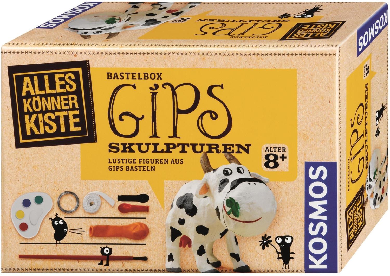 Kosmos Alleskönner-Kiste Gips-Skulptur