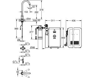 grohe blue mono starter kit 31302001 ab preisvergleich bei. Black Bedroom Furniture Sets. Home Design Ideas