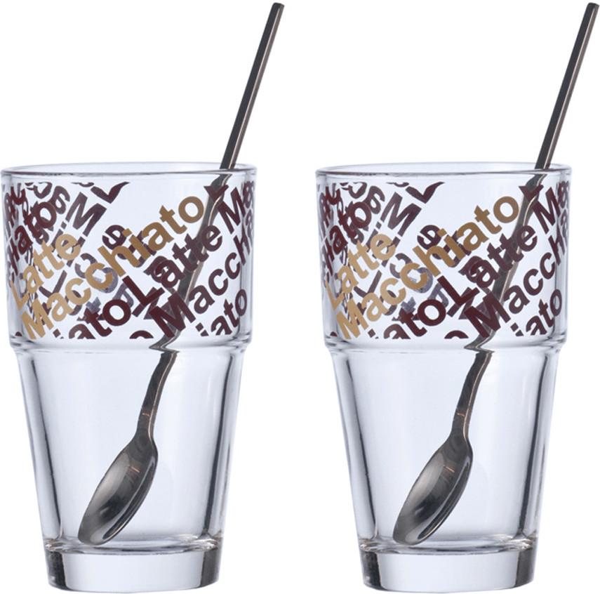 Leonardo Café Latte Solo mit Löffeln 4tlg.