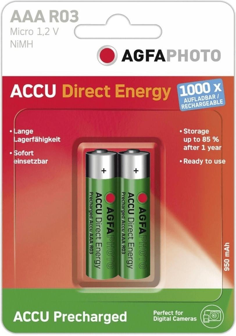 Image of AgfaPhoto 2x Ready-to-Use AAA Accu 1,2V 950 mAh