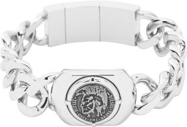 Diesel Edelstahl-Armband mit Logo (DX0800)