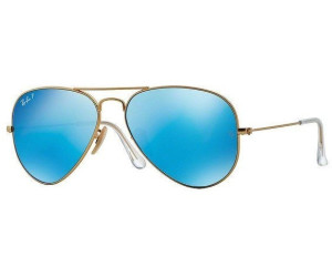 Rb3025 Aviator Large Metal 112/4l Matte Gold Blue Mirror Polar 58/14 135 MaxUTpoFk