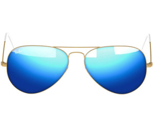 2b2a43862f Ray-Ban Aviator Metal RB3025. 112 4L (matte gold blue mirror polarized)