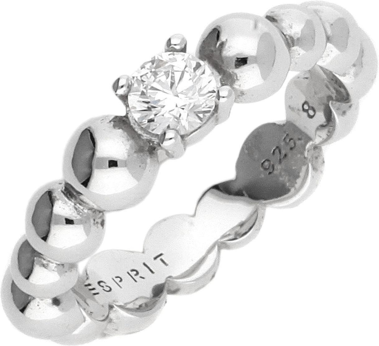 Esprit Solo pellet silber Zirkoniaring (ESRG923...