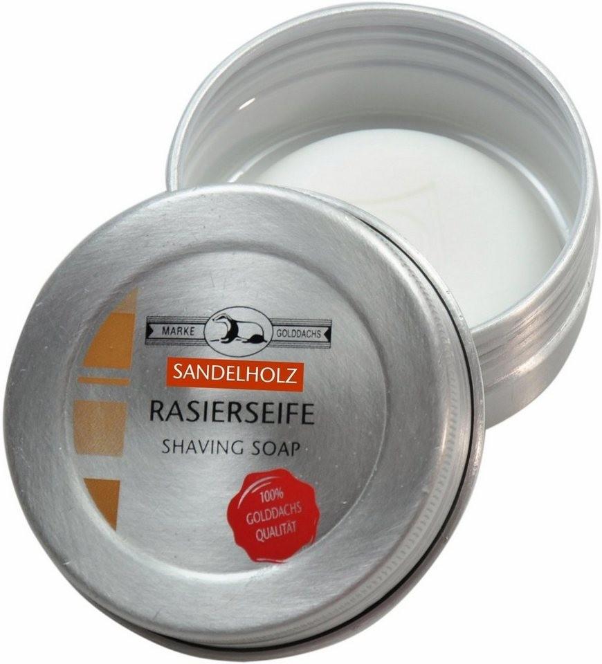 Golddachs Rasierseife Sandelholz (60 g)