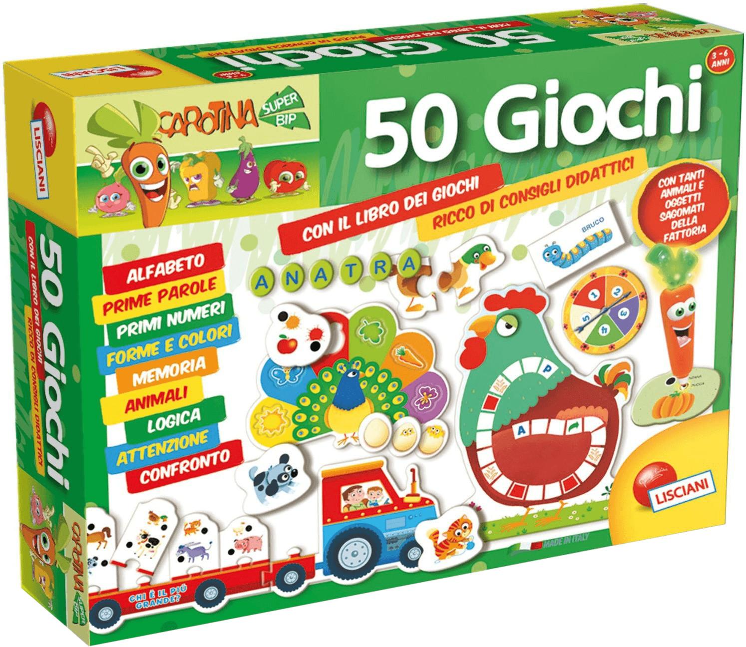 Lisciani Carotina 50 giochi