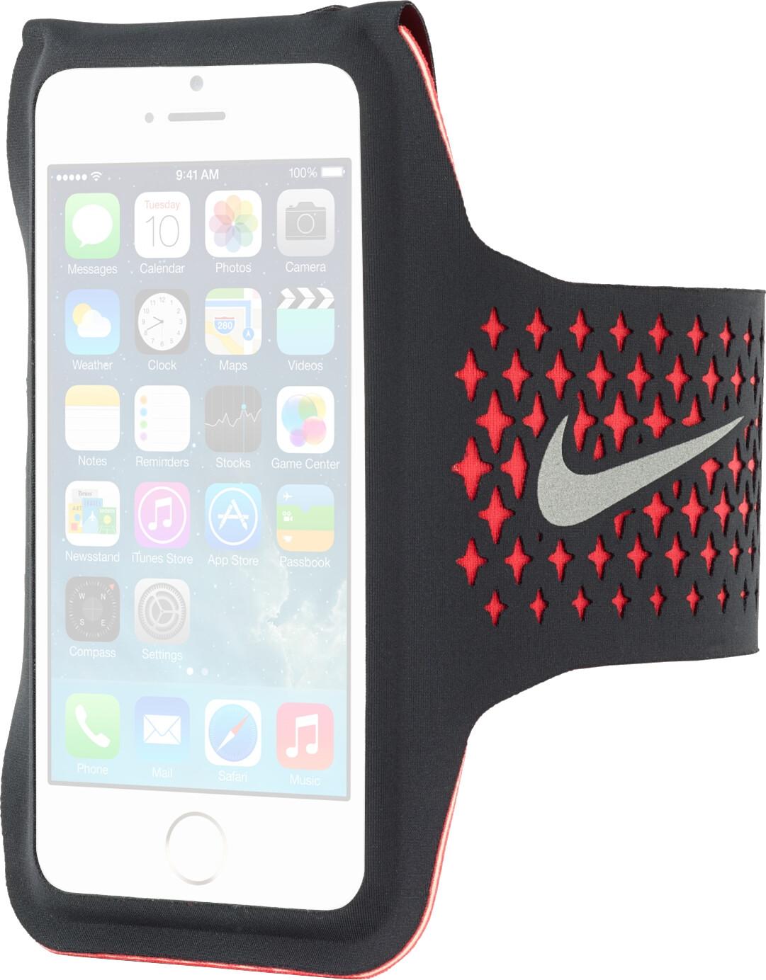 Nike Performance Armband Diamond schwarz/rot (i...