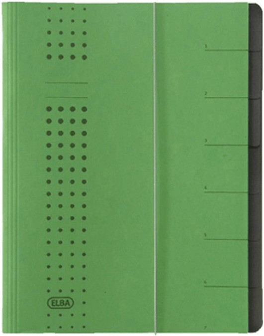 Elba Ordnungsmappe Chic 400002025 A4 7 Fächer grün