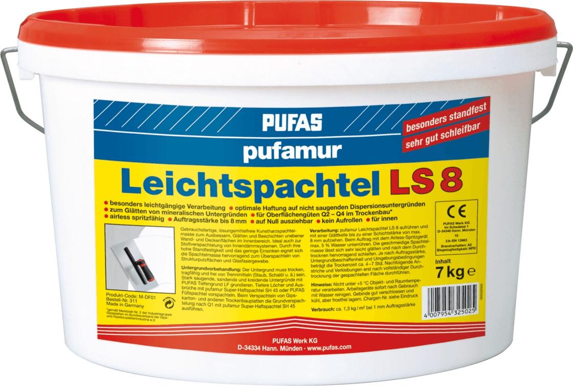PUFAS pufamur Leichtspachtel LS 8 7 kg