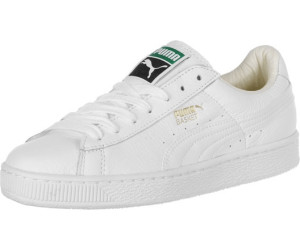 PUMA Leather Heritage Basket Classic Sneakers in White for