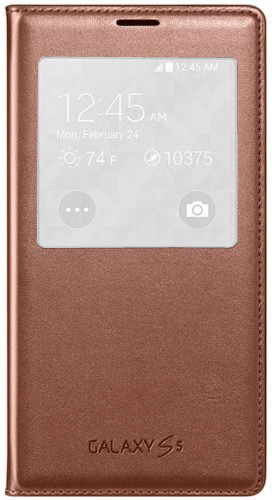 Samsung S-View Cover rose gold (Galaxy S5 Mini)