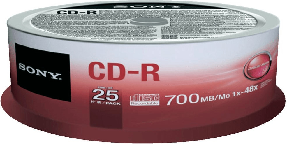 Sony CD-R 700MB 48x 25er Cakebox (25CDQ80SP)
