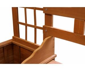 gd world rosenbogen aus holz mit bank und pflanzeinsatz 194 x 206 x 53 cm ab 119 00. Black Bedroom Furniture Sets. Home Design Ideas